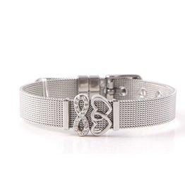 Damen Mesh Armband Edelstahl
