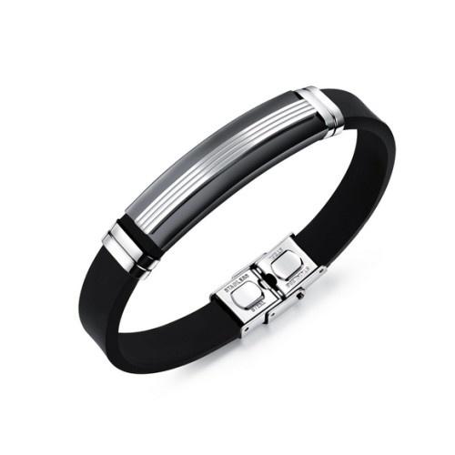 Herren Kautschuk Edelstahl Armband