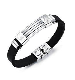 Edelstahl Kautschuk Armband