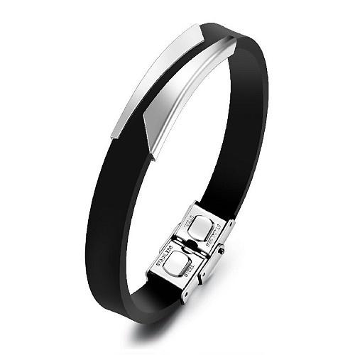 Edeles Kautschuk Armband für Herren