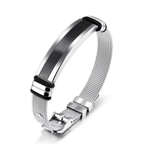 Herren Mesh Armband Edelstahl