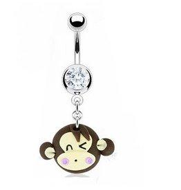Bauchpiercing mit Affen