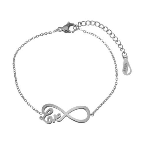 Infinity Armband Love aus Edelstahl