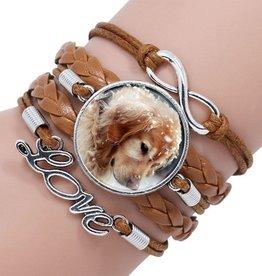 5reihiges Armband Hund