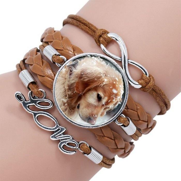 Armband Hund, Love & Unendlichkeit Symbol