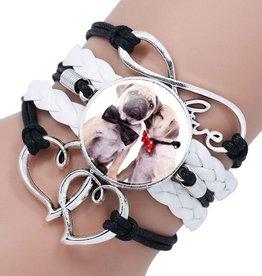 5reihiges Armband Hund Mops