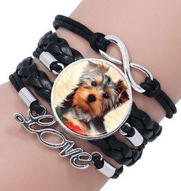 Schwarzes Armband Hund