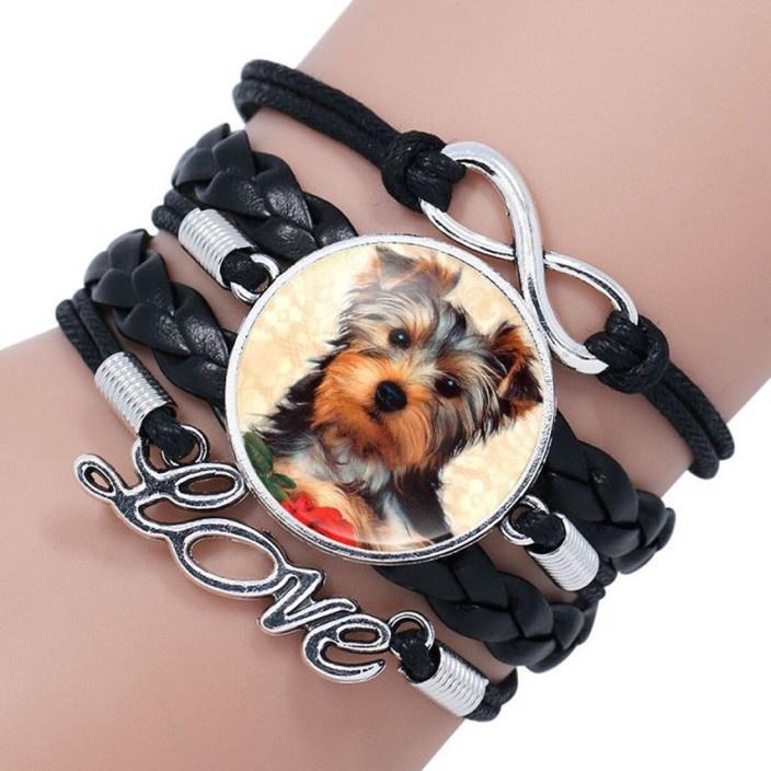 Schwarzes Armband für Hundeliebhaber