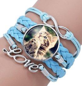 Türkises Armband Katze