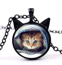 Halskette mit Katzen Motiv
