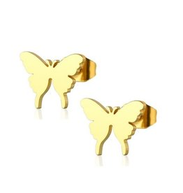 Ohrstecker Schmetterling goldfärbig
