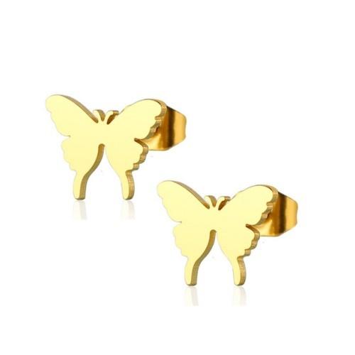 Ohrstecker Schmetterling Edelstahl Gold