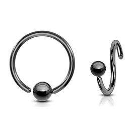 Schwarzer Piercing Ring
