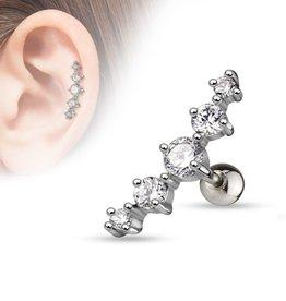 Ohr Piercing 5 Steine
