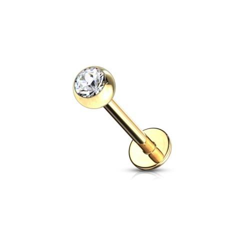 Ohr & Lippenpiercing Piercing gold-färbig