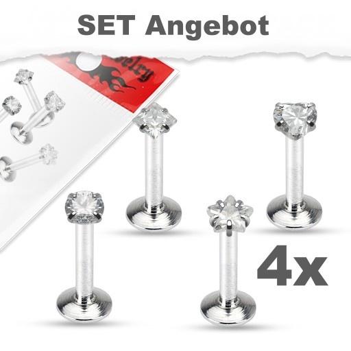 4x Tragus Piercing Set Angebot