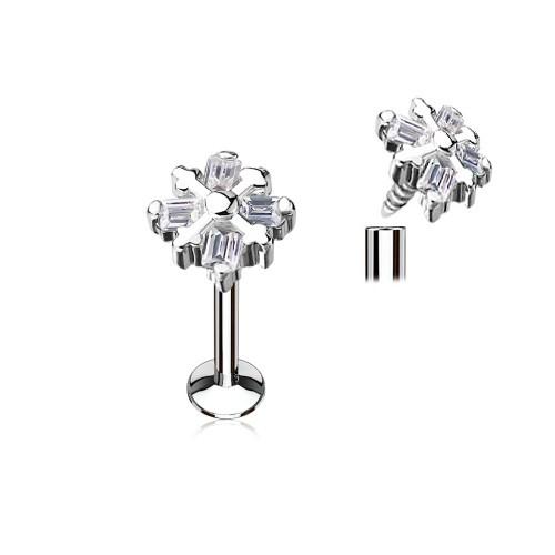Tragus Stecker Blume Kristall