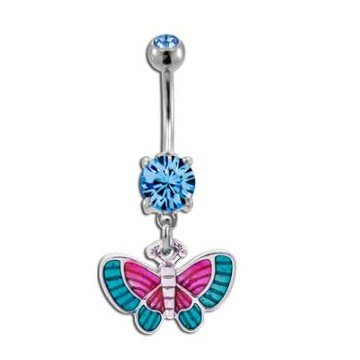 Bauchnabel Piercing Schmetterling