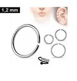 1,2 x 8 mm Piercing Ring silberfärbig