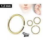 1,2 x 8 mm Piercing Ring gold-färbig