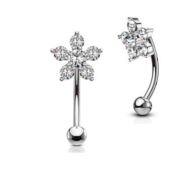 1,2 mm Barbell Piercing Blume