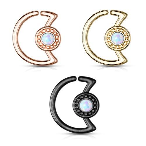 Daith Piercing mit synthetik Opal