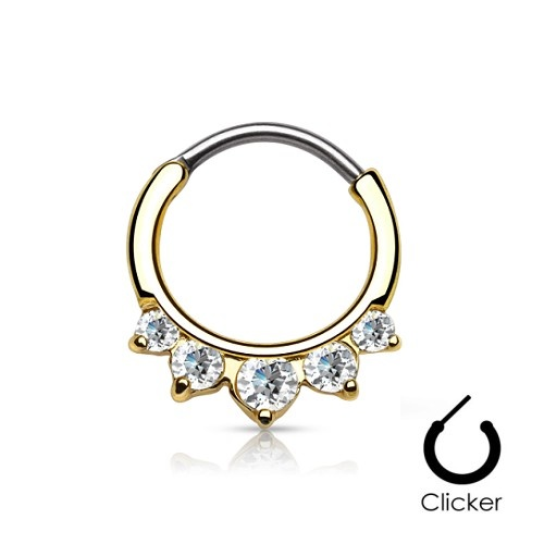 Septum Clicker Edelstahl gold-färbig