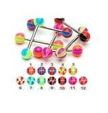 Kunststoff Zungenpiercing - 12 Modelle