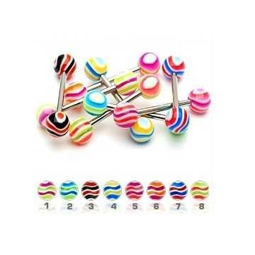 Zungenpiercing bunt - 8 Modelle