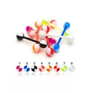 Zungenpiercing Kunststoff - 8 Modelle