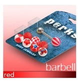 Piercingset für Zunge in rot