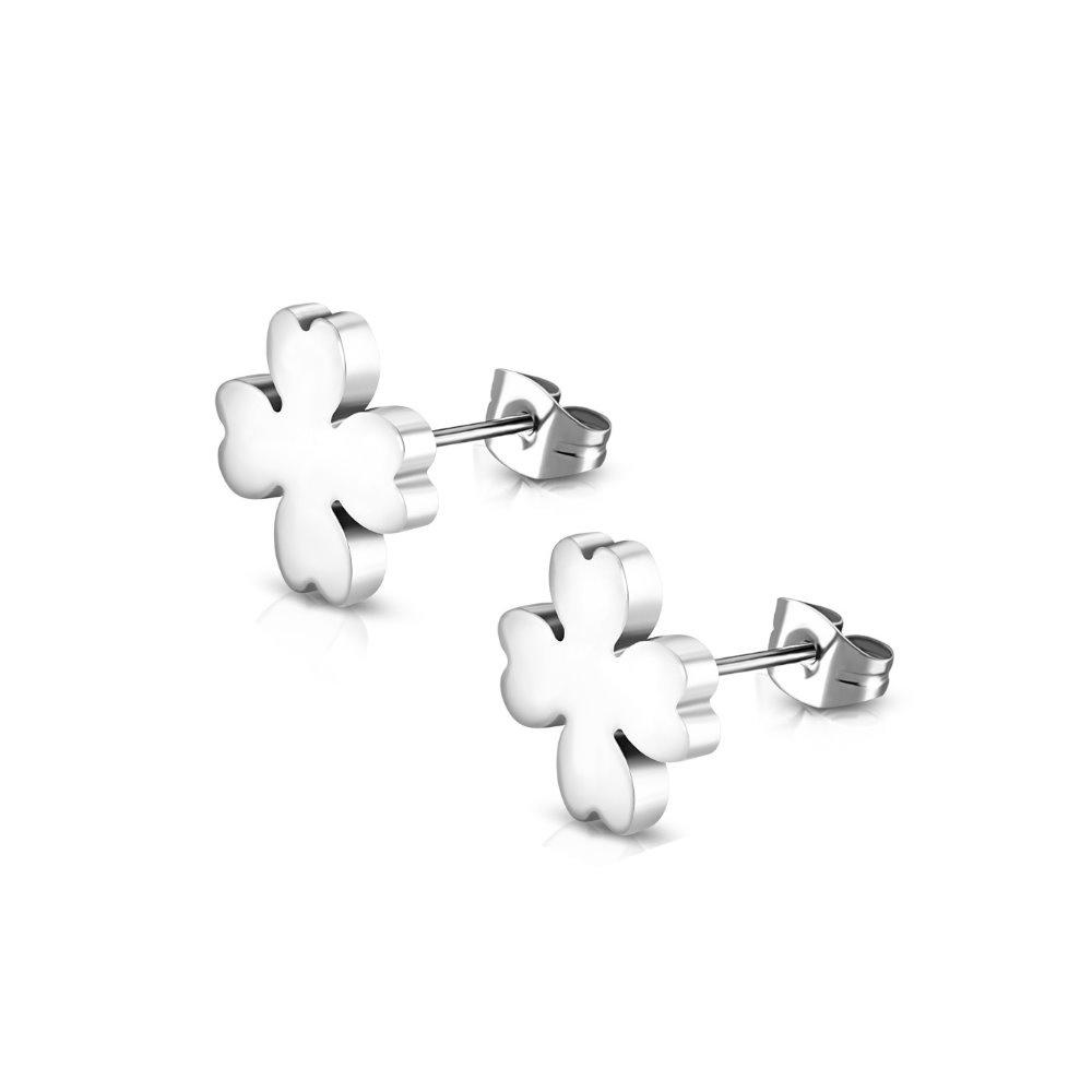 Kleeblatt Ohrringe aus Edelstahl