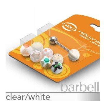 Piercingset weiß - 7 Stk. Zungenpiercing