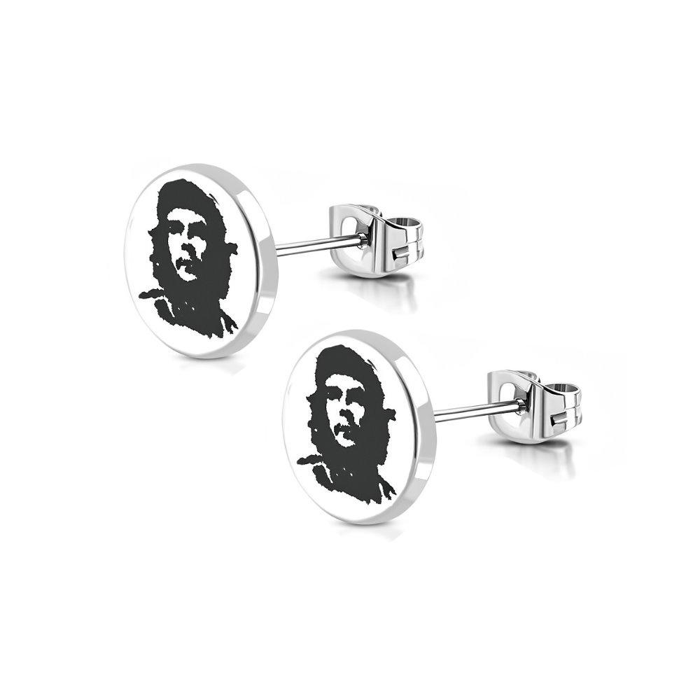 Edelstahl Ohrstecker Che Guevara