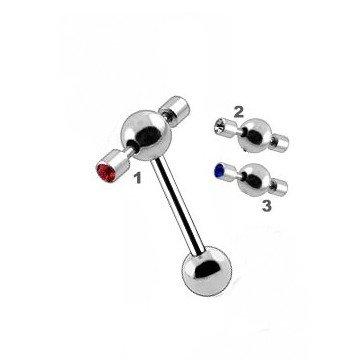 Zungenpiercing mit Aufsatz - 3 Farben
