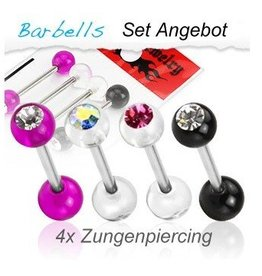 Zungenpiercing im SET