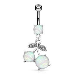 Bauchnabelpiercing mit Synthetik Opal
