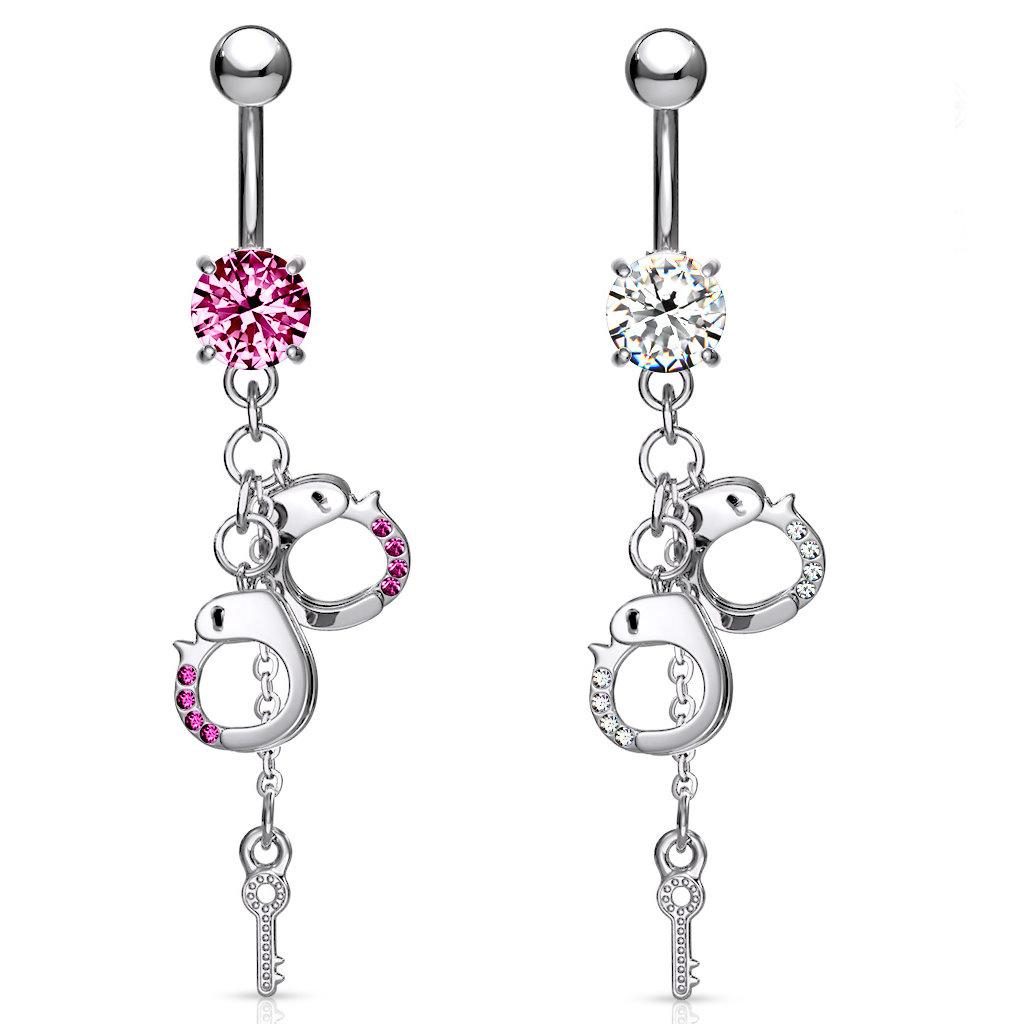 Handschellen Piercing in 2 Farben wählbar