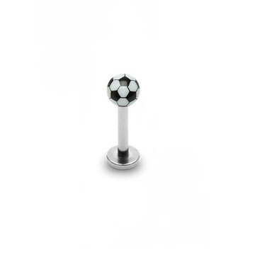 Piercingstecker Fussball
