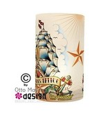 Tattoo Candlecover Oldschool Segelschiff