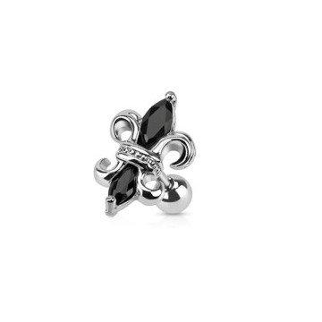 Lilien Traguspiercing - schwarz
