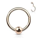 1,2 mm Piercing Ring mit Klappverschluss