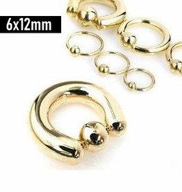 6 mm Piercing Ring goldfärbig
