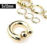 5 mm Piercingring goldfärbig Ø12mm