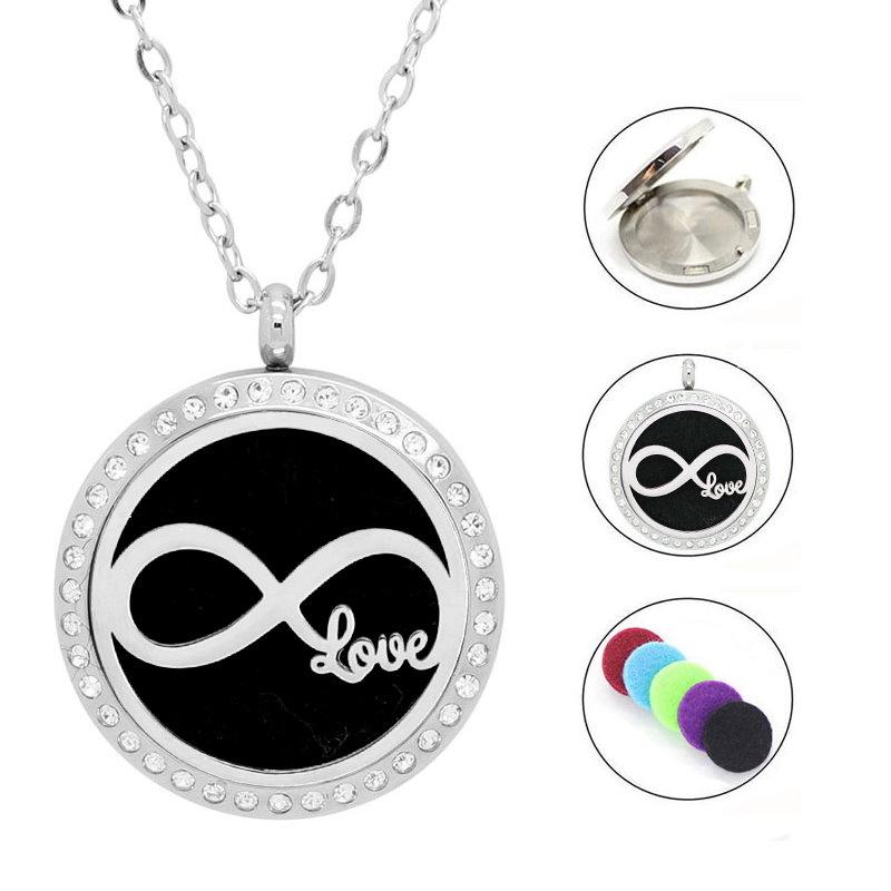Damen Edelstahlkette Infinity - Love Anhänger