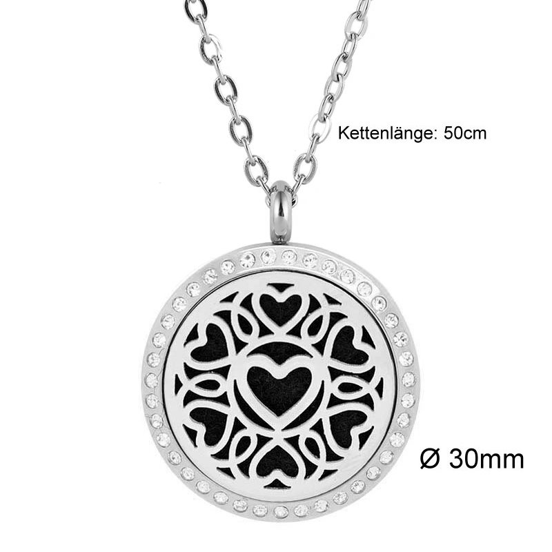 Damen Edelstahl Halskette Herz