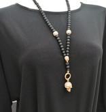 Perlen Y-Halskette mit Totenkopf Anhänger