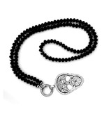 80cm lange Halskette mit Totenkopf Anhänger