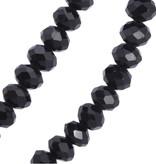 Schwarze Modeschmuck Halskette mit Flügel