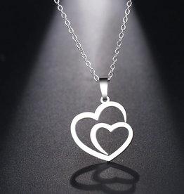 Edelstahlkette Herz